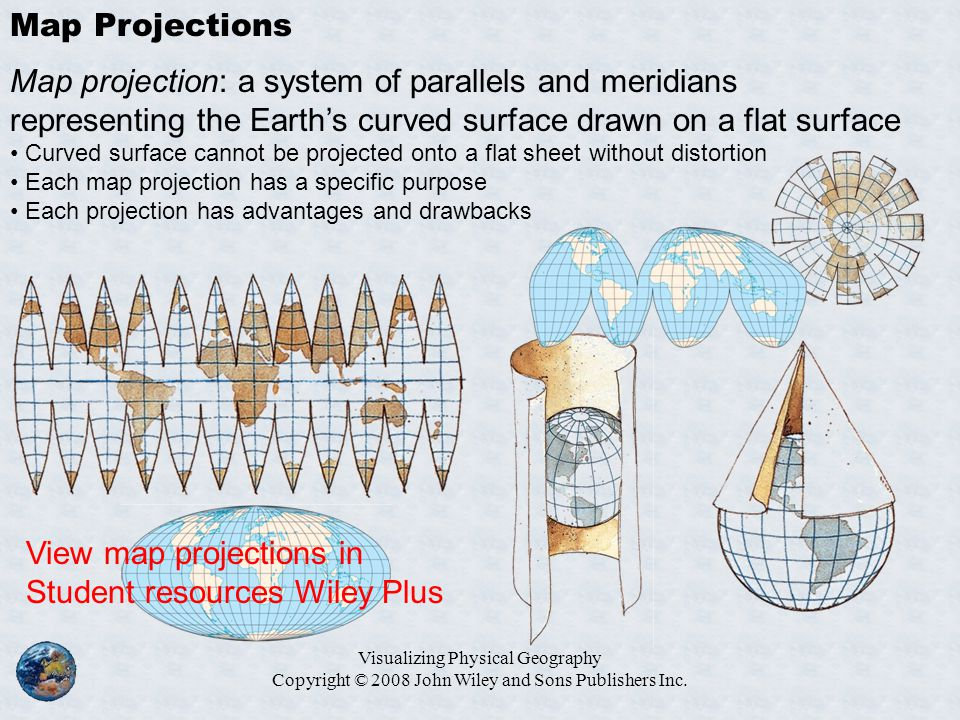 View map projections in Student resources Wiley Plus