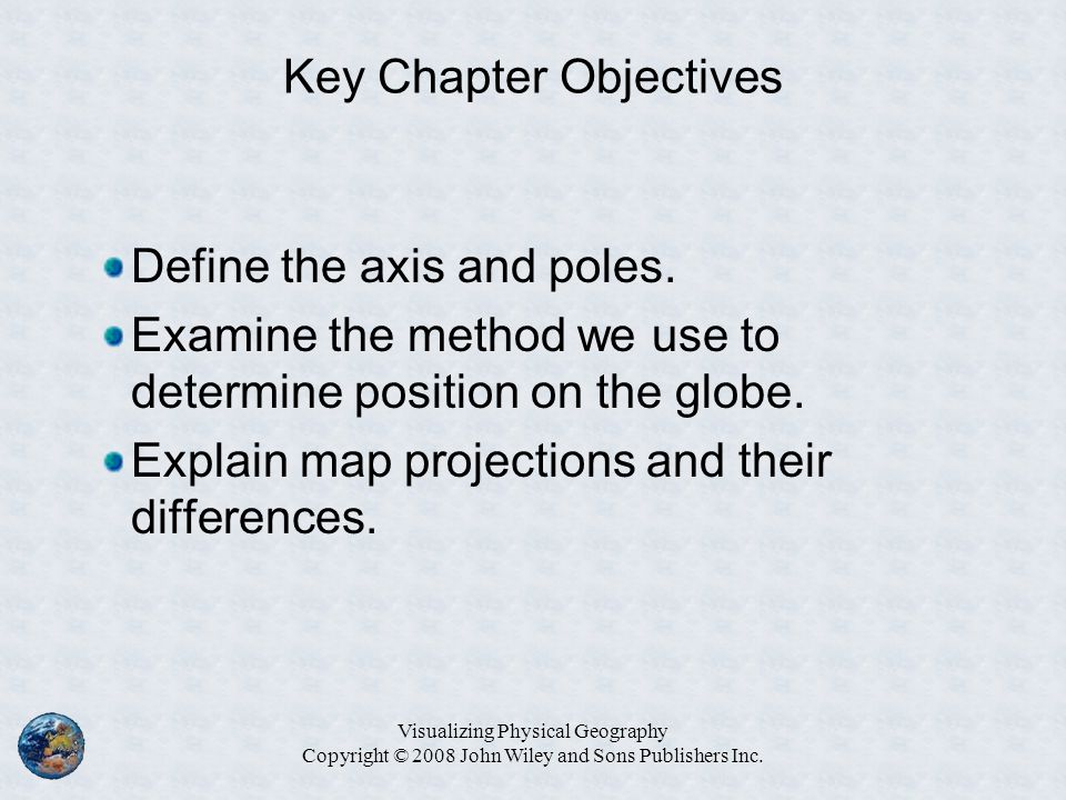Key Chapter Objectives