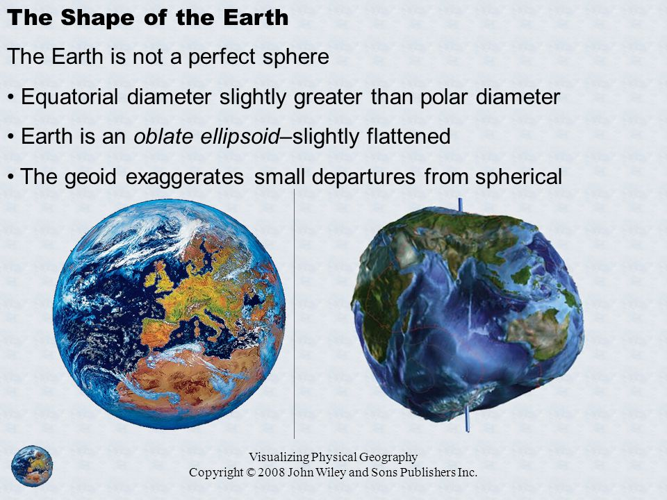 The Earth is not a perfect sphere