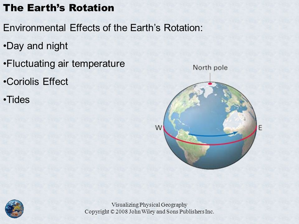 Environmental Effects of the Earth's Rotation: Day and night