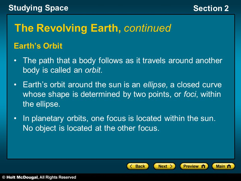 The Revolving Earth, continued