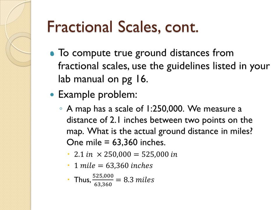 Fractional Scales, cont.