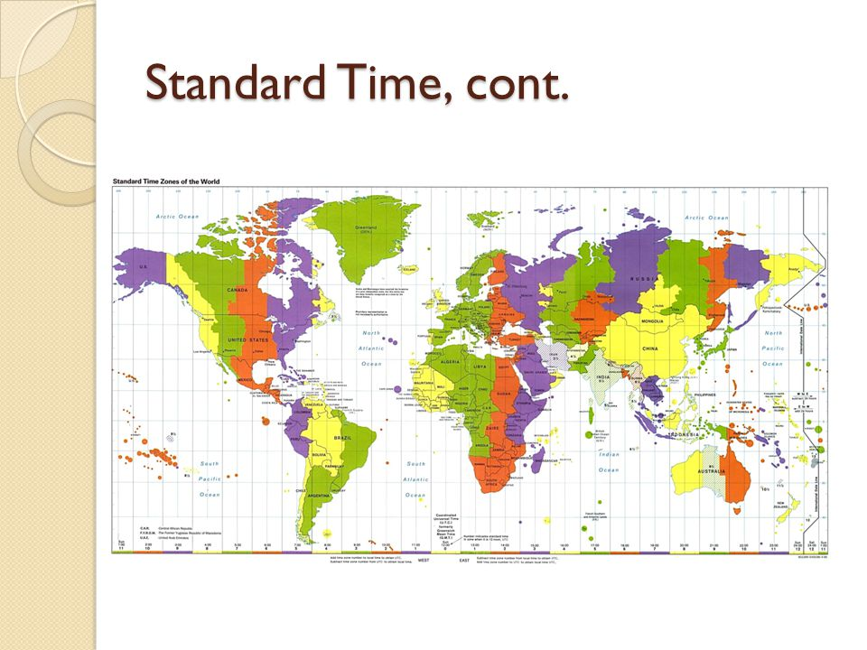 Standard Time, cont.