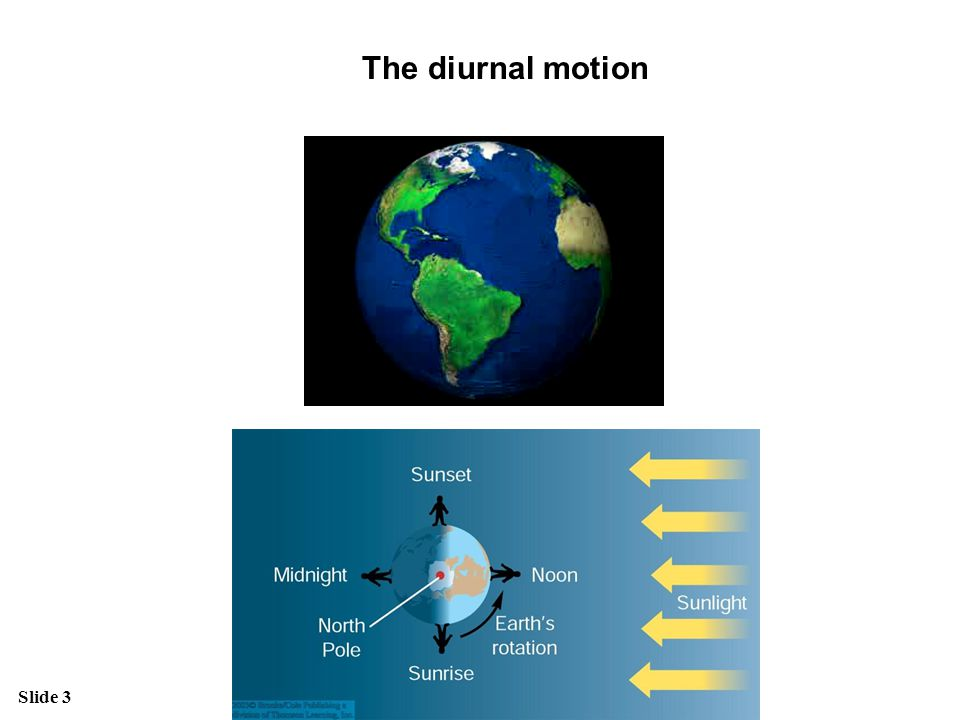 The diurnal motion