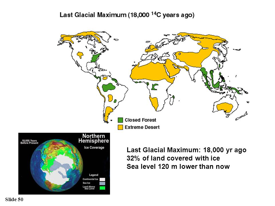 Last Glacial Maximum: 18,000 yr ago