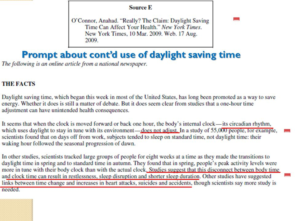 - Prompt about cont'd use of daylight saving time - -