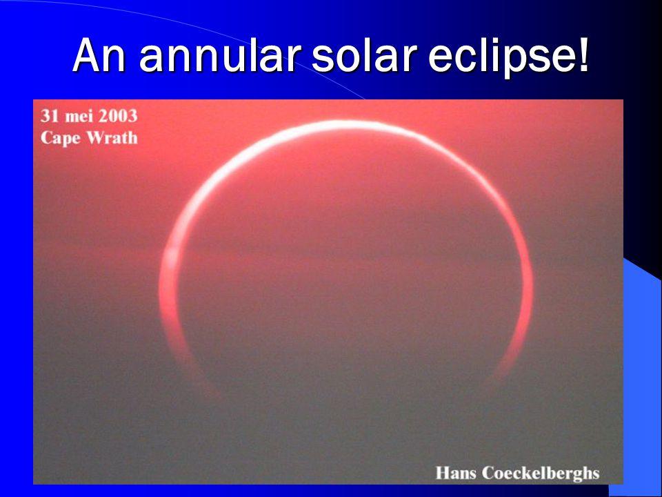 An annular solar eclipse!