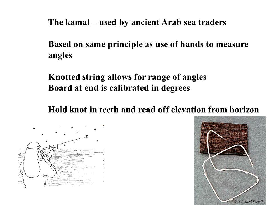 The kamal – used by ancient Arab sea traders