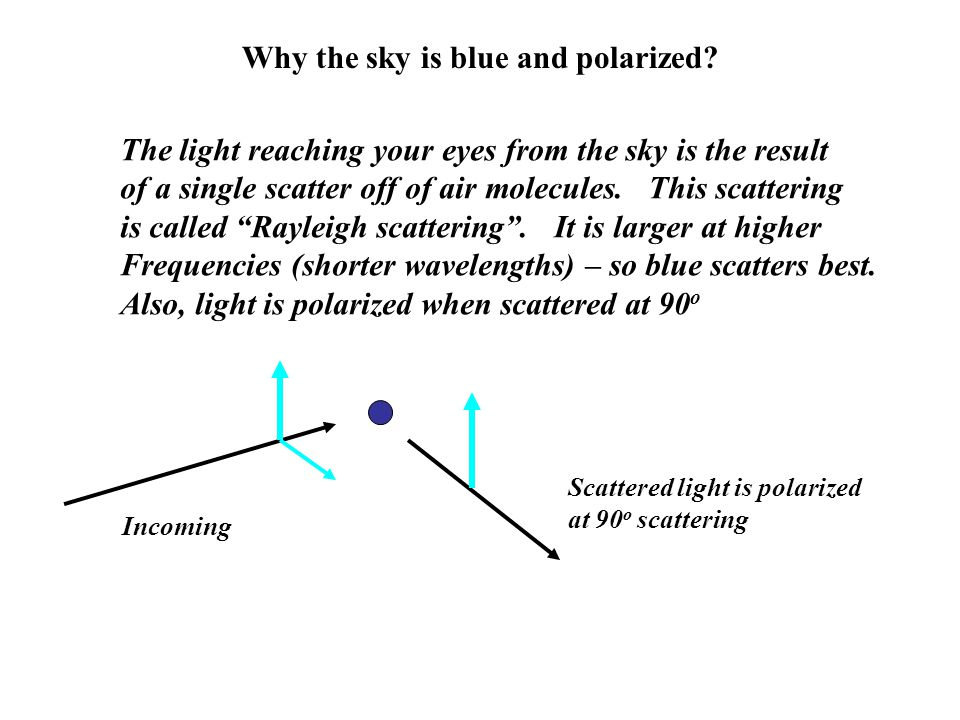 Why the sky is blue and polarized