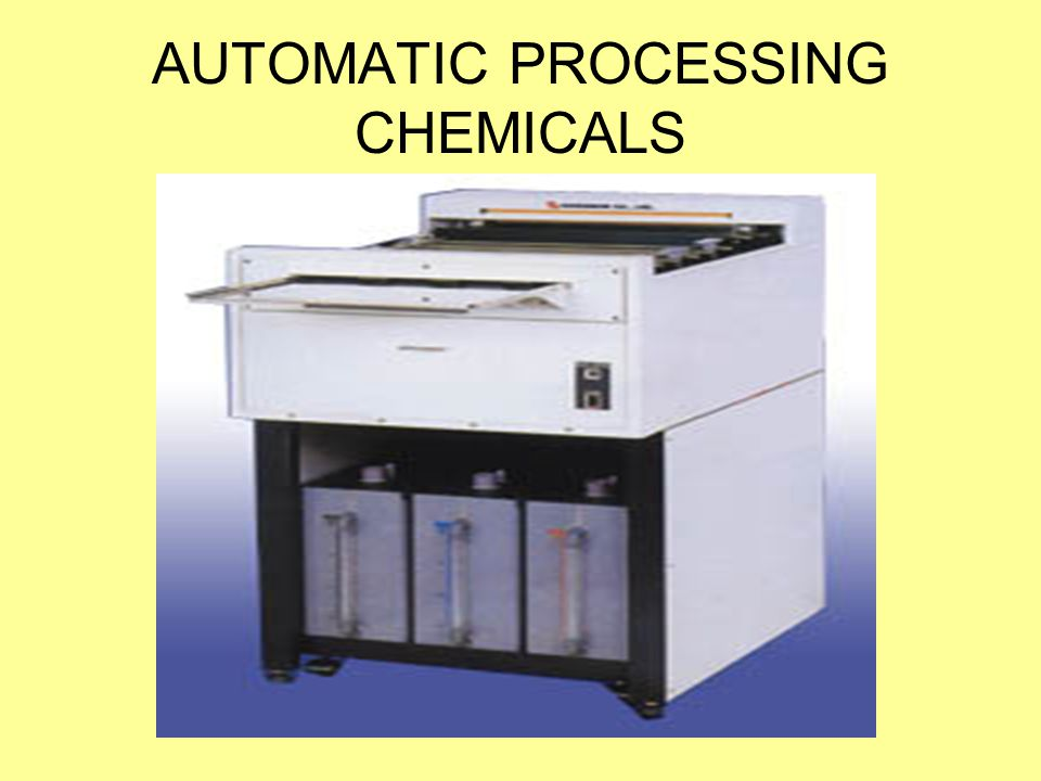 AUTOMATIC PROCESSING CHEMICALS