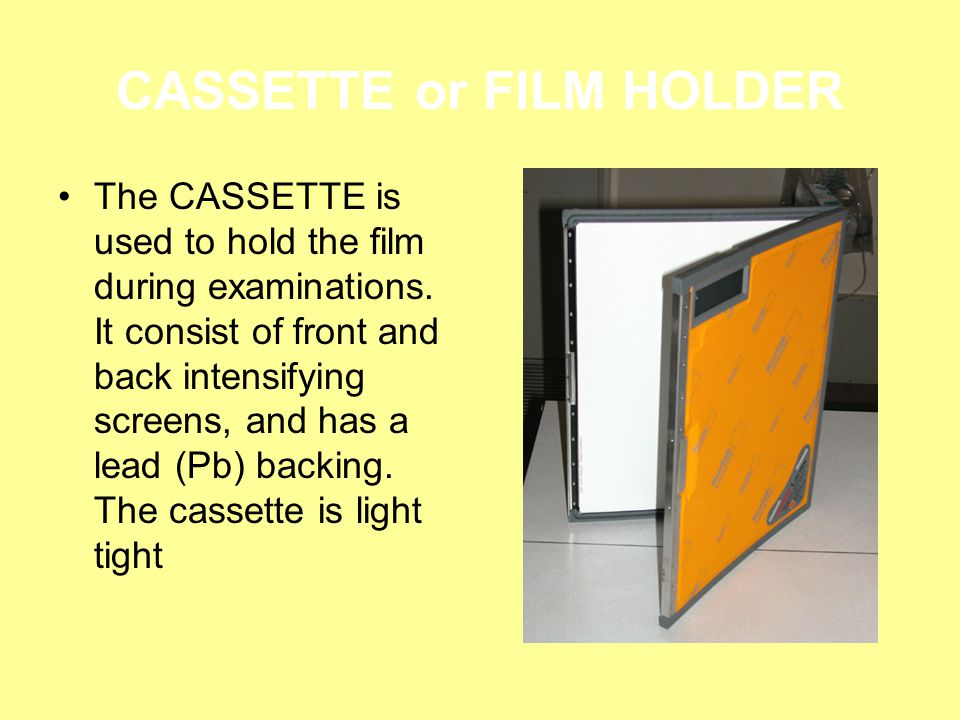 CASSETTE or FILM HOLDER