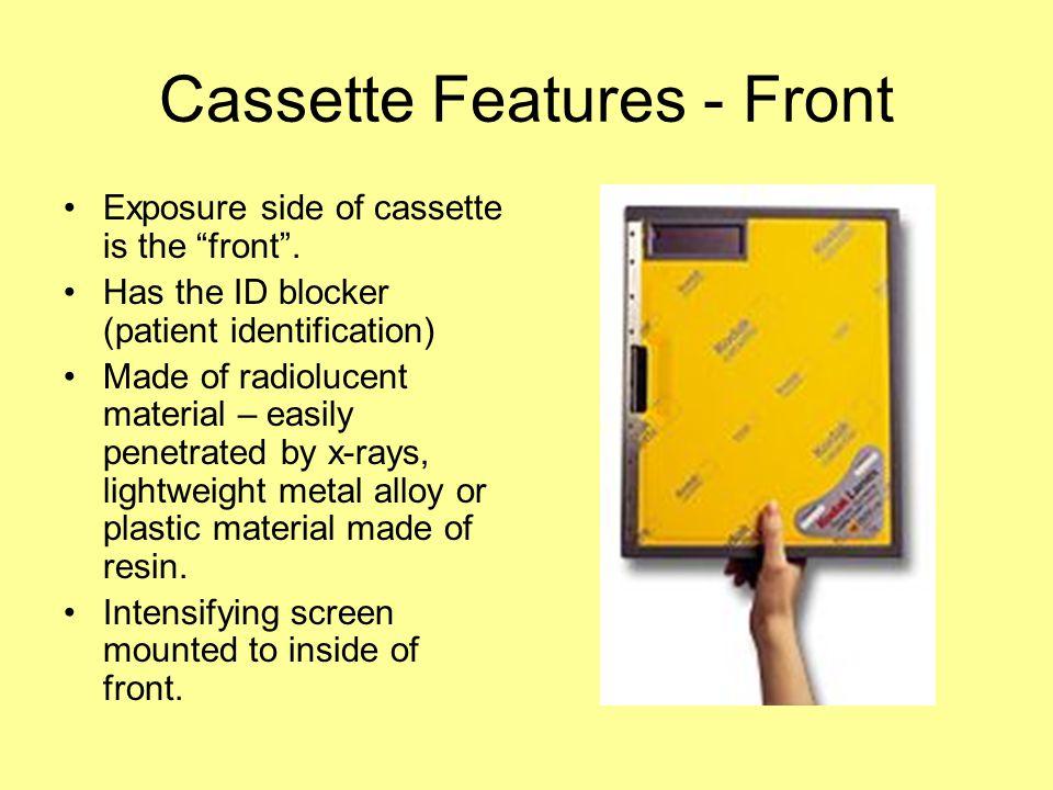 Cassette Features - Front