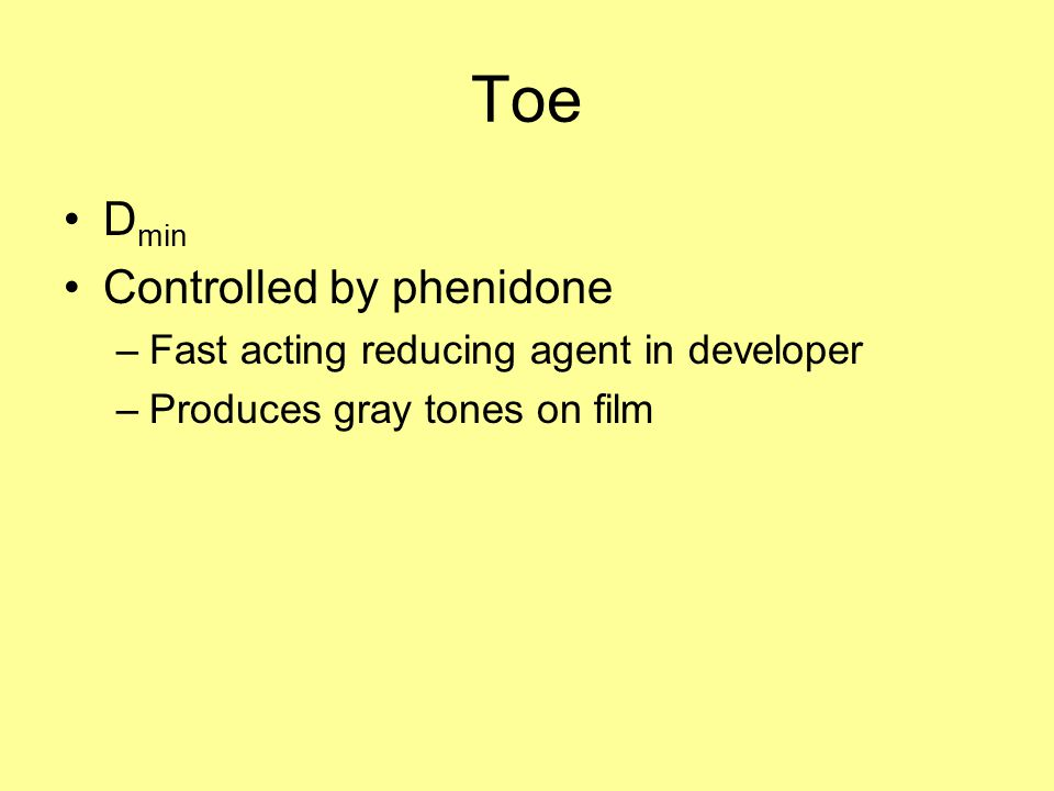 Toe Dmin Controlled by phenidone