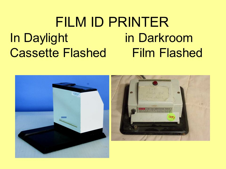 FILM ID PRINTER In Daylight in Darkroom Cassette Flashed Film Flashed