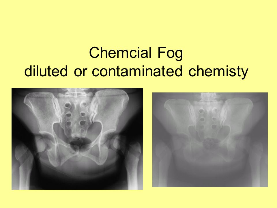Chemcial Fog diluted or contaminated chemisty