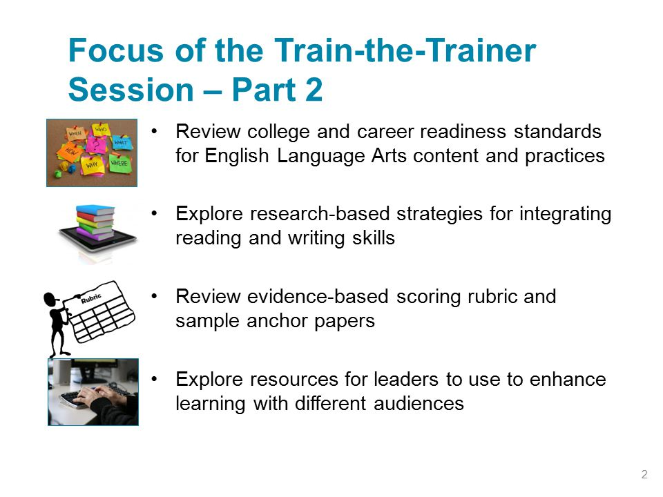 Focus of the Train-the-Trainer Session – Part 2
