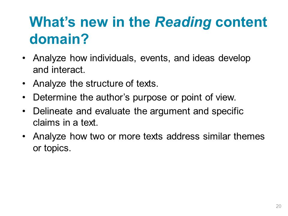 What's new in the Reading content domain