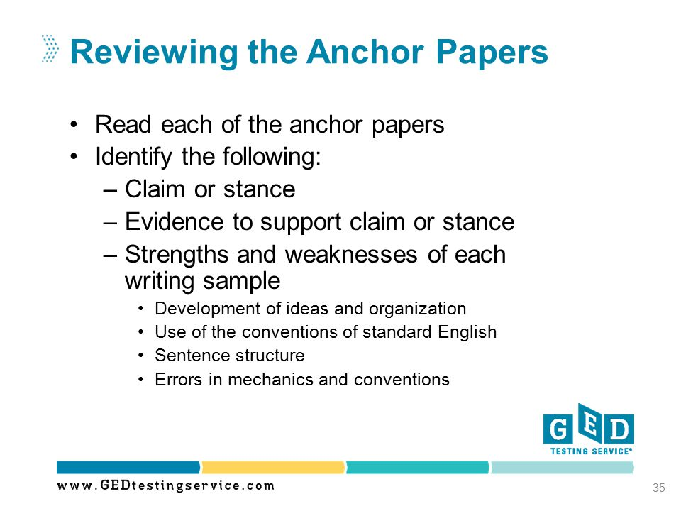 Reviewing the Anchor Papers