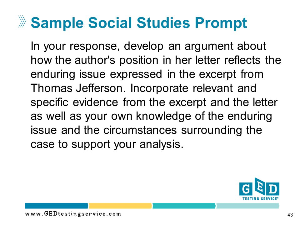 Sample Social Studies Prompt