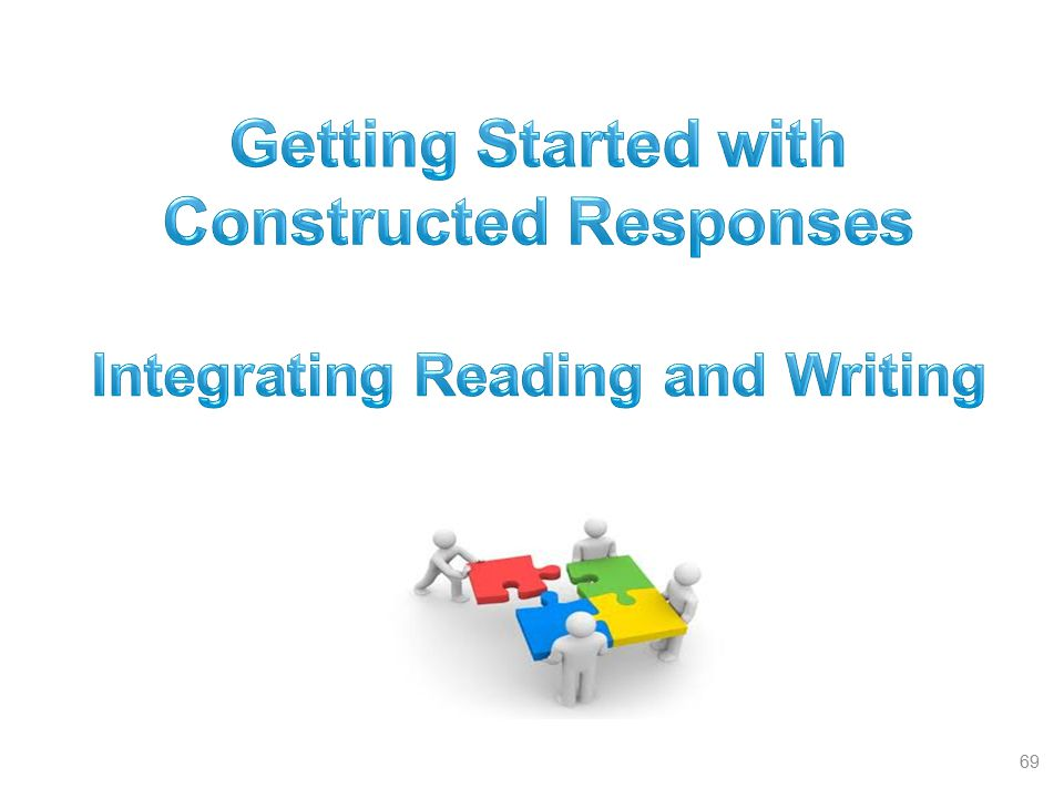 Getting Started with Constructed Responses
