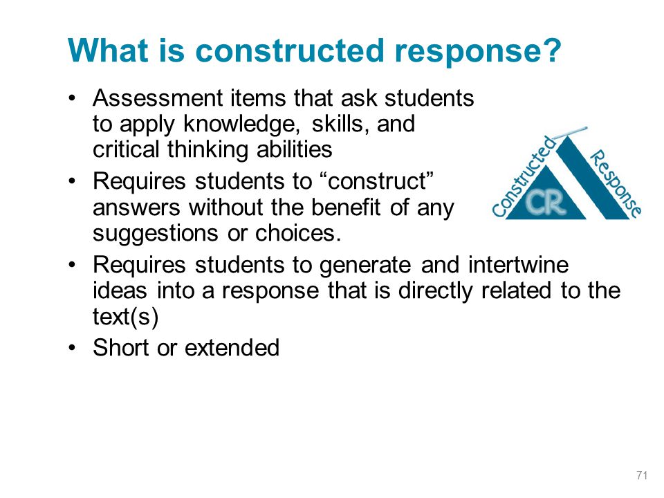 What is constructed response