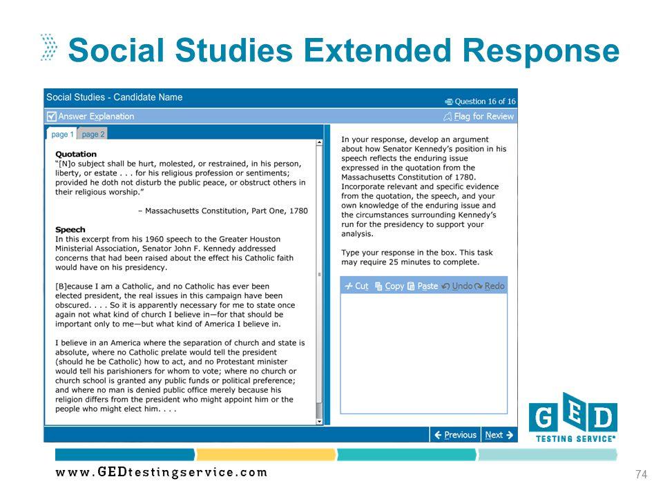 Social Studies Extended Response