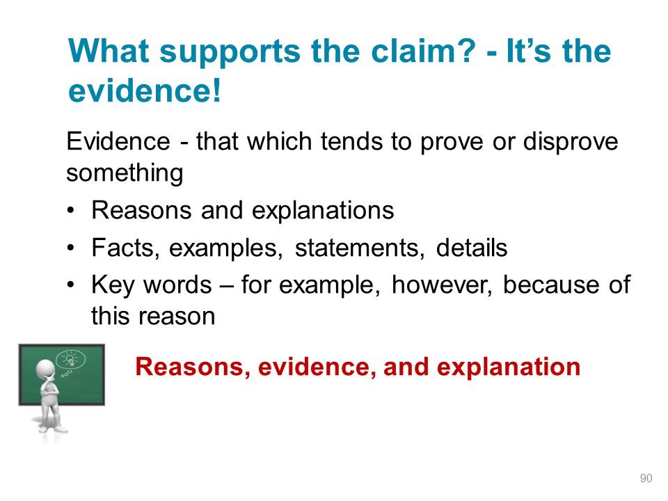 What supports the claim - It's the evidence!
