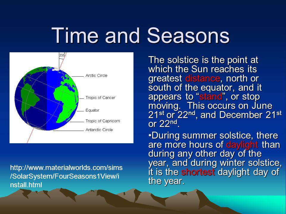 Time and Seasons