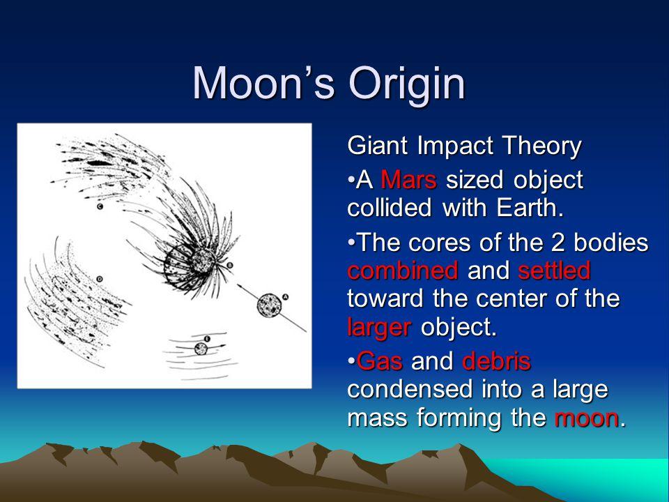 Moon's Origin Giant Impact Theory