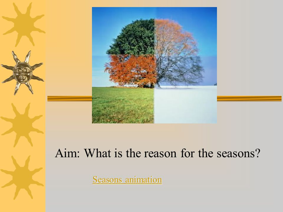Aim: What is the reason for the seasons