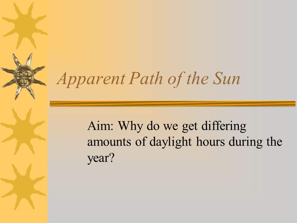 Apparent Path of the Sun