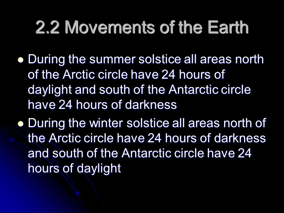 2.2 Movements of the Earth