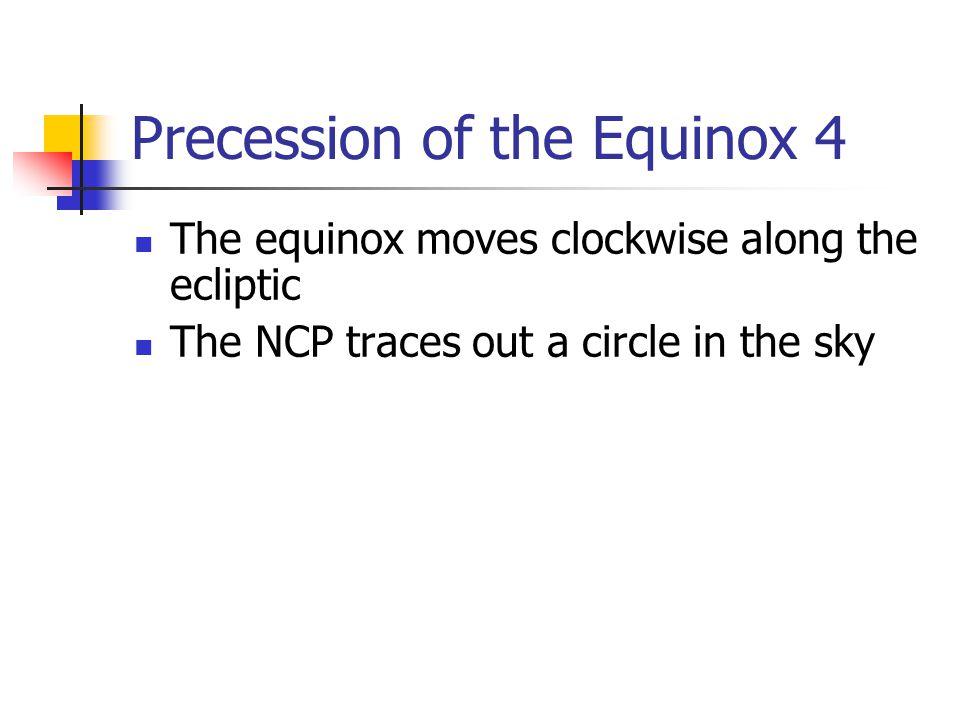 Precession of the Equinox 4
