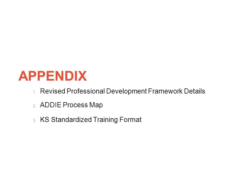 APPENDIX Revised Professional Development Framework Details
