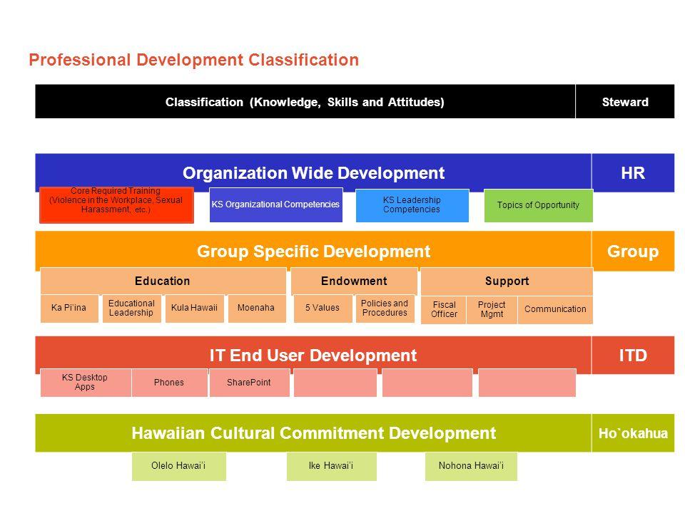 Professional Development Classification