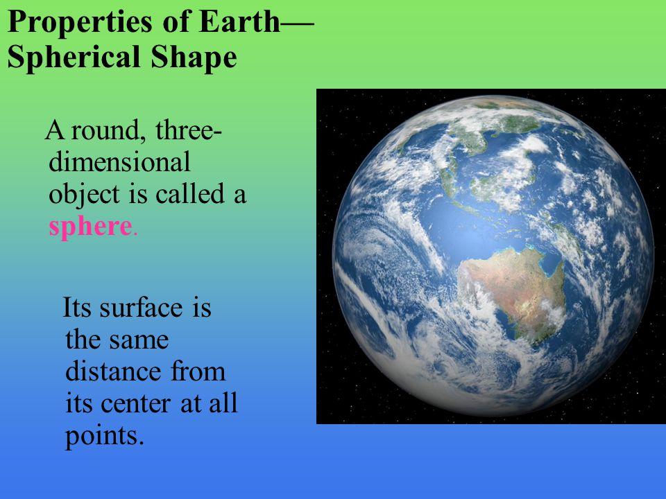 Properties of Earth— Spherical Shape