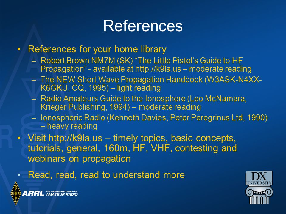 References References for your home library