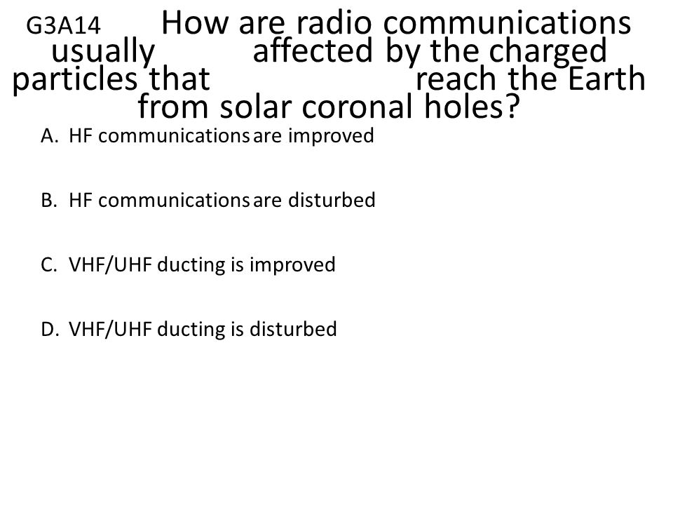 G3A14. How are radio communications usually