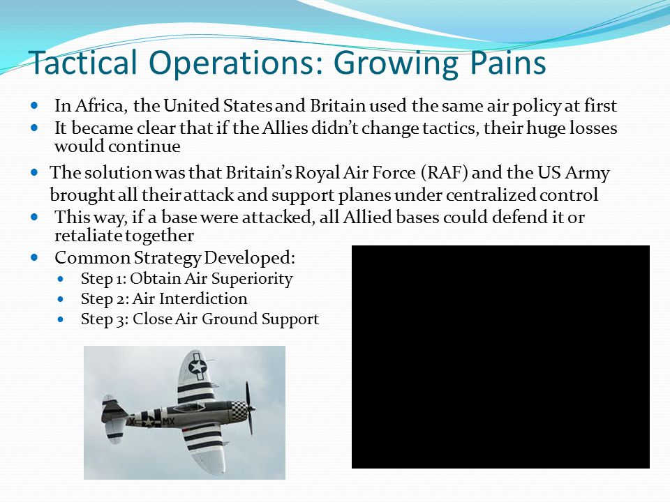 Tactical Operations: Growing Pains