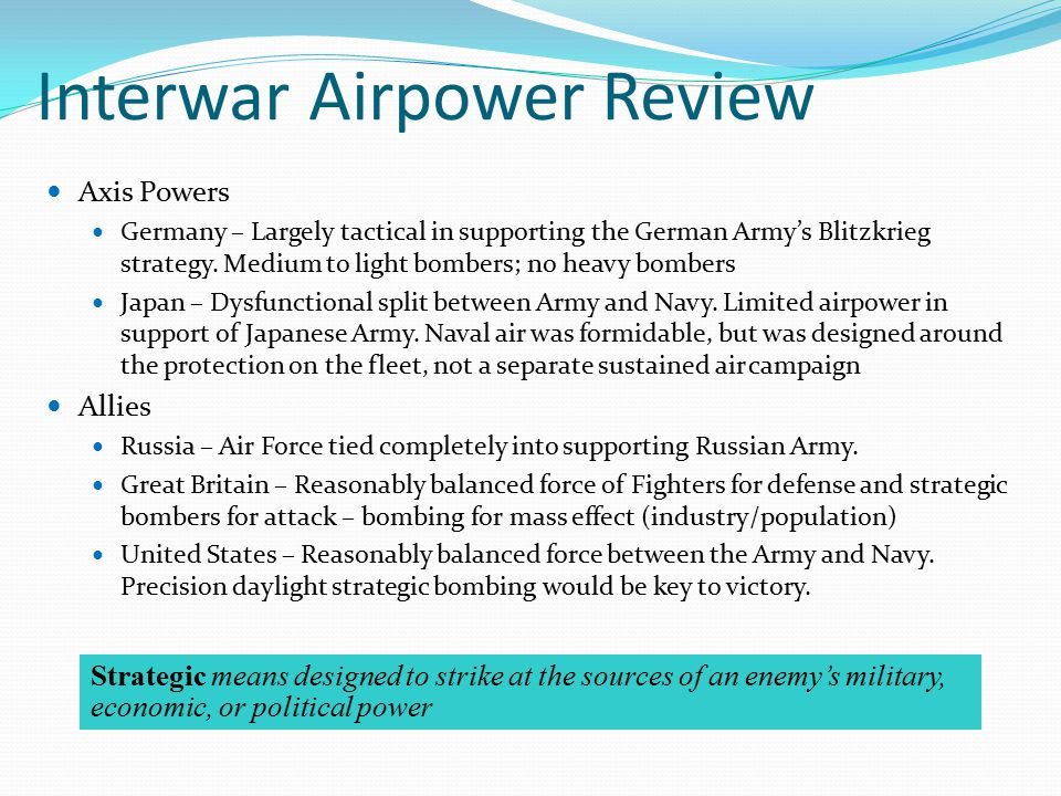Interwar Airpower Review