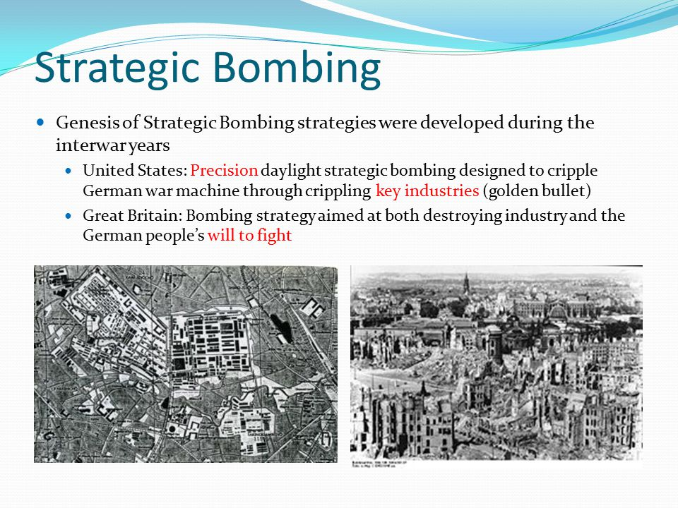 strategic bombing during world war 2 essay -strategic bombing remains a controversial weapon of war to this day was the american strategic bombing campaign against the axis powers, including the atomic bombing of hiroshima and nagasaki, successful, or was the destruction and loss of life out of proportion to any military advantage.