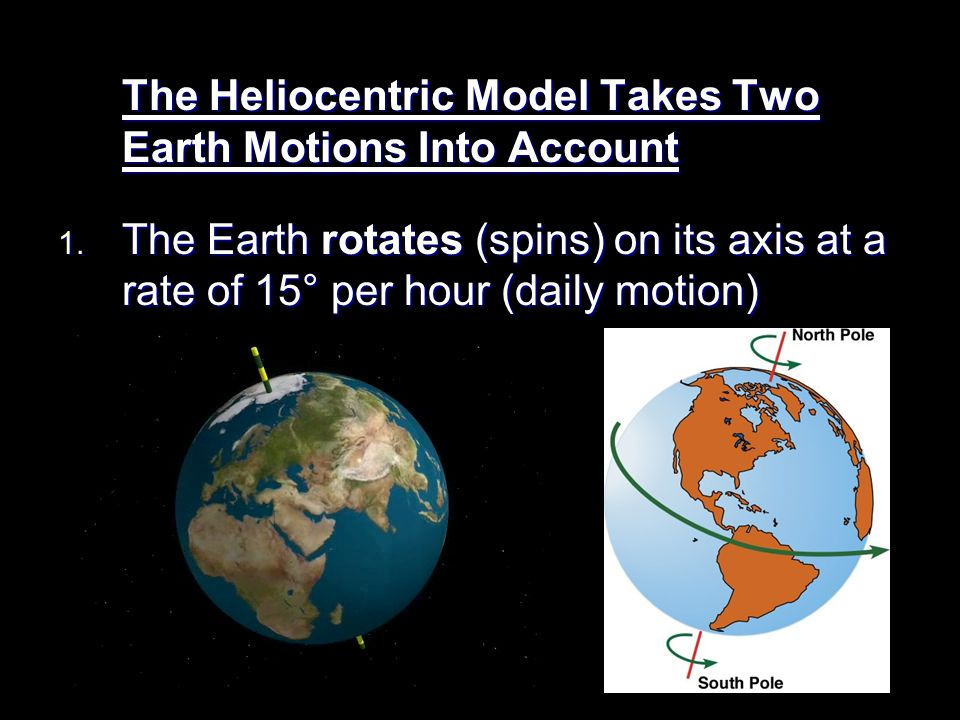 The Heliocentric Model Takes Two Earth Motions Into Account