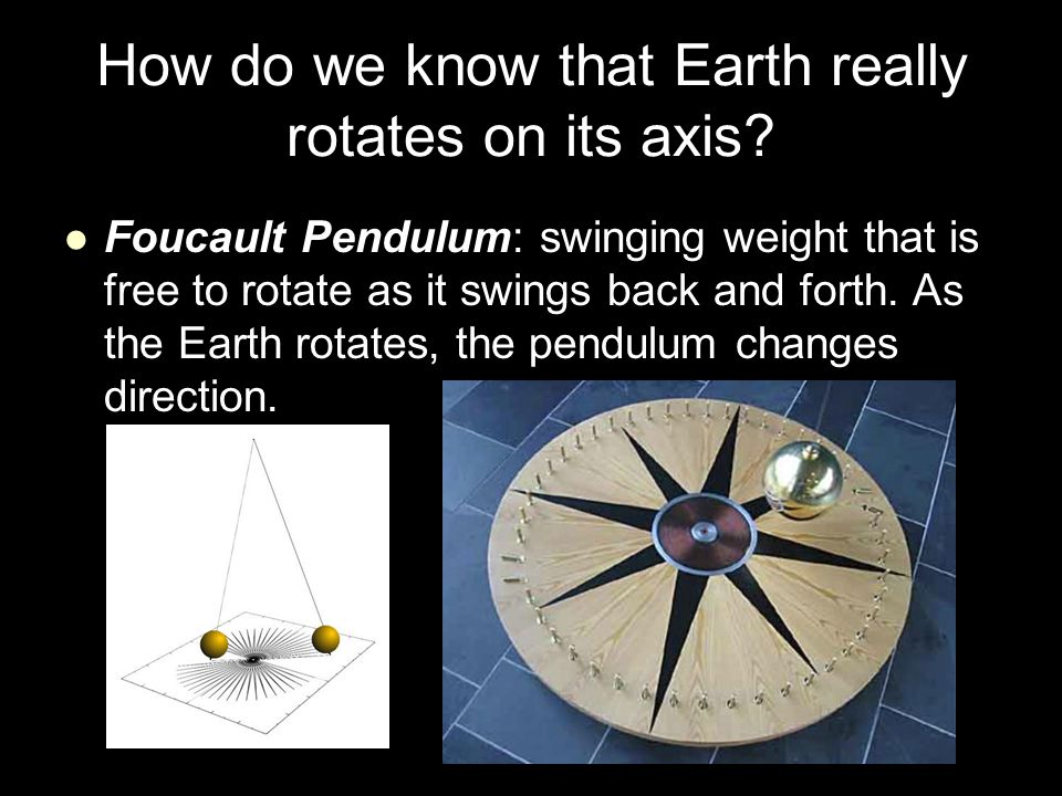 How do we know that Earth really rotates on its axis