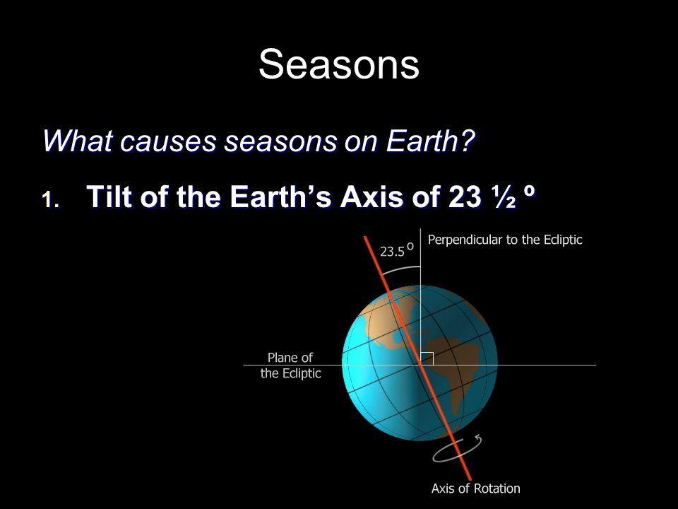 Seasons What causes seasons on Earth