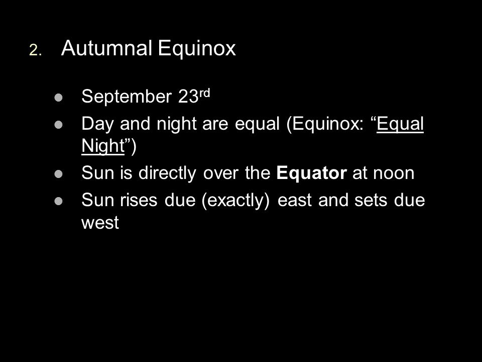 Autumnal Equinox September 23rd
