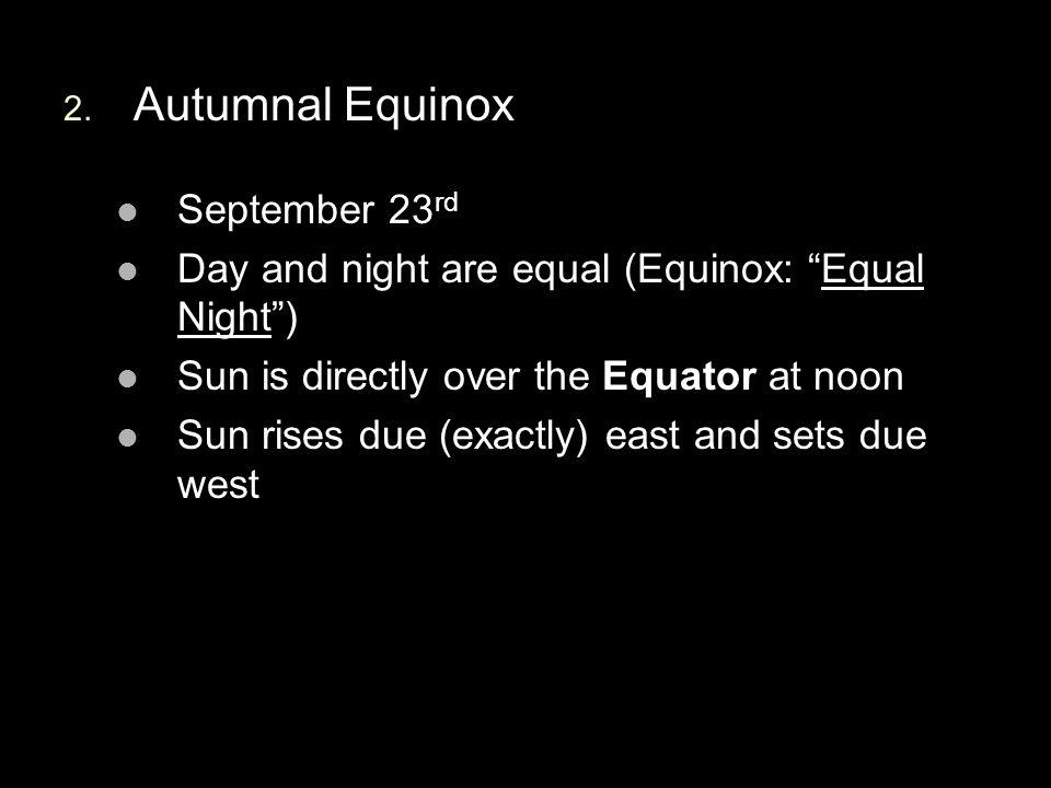 Autumnal Equinox September 23rd