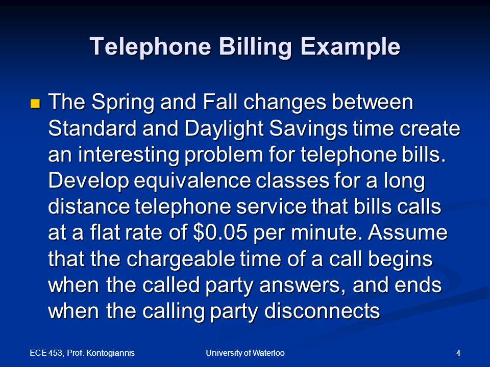 Telephone Billing Example