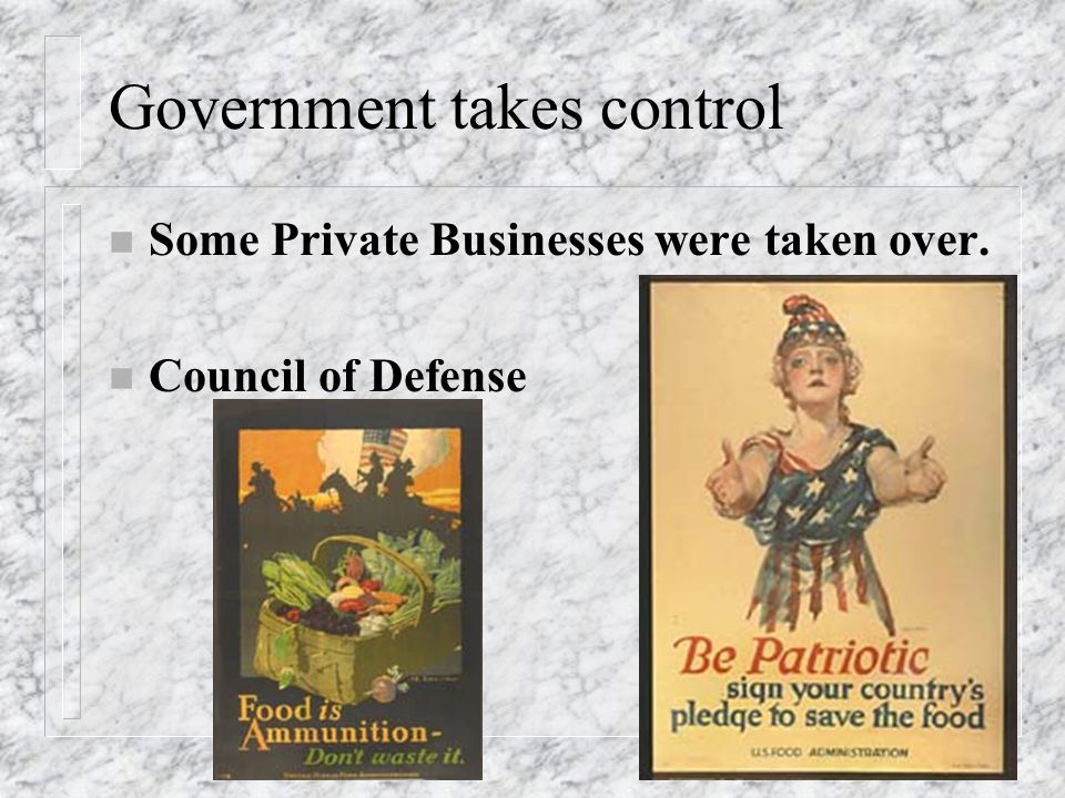 Government takes control