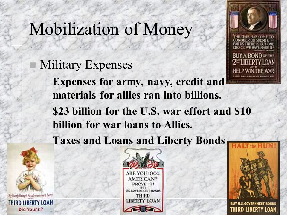 Mobilization of Money Military Expenses