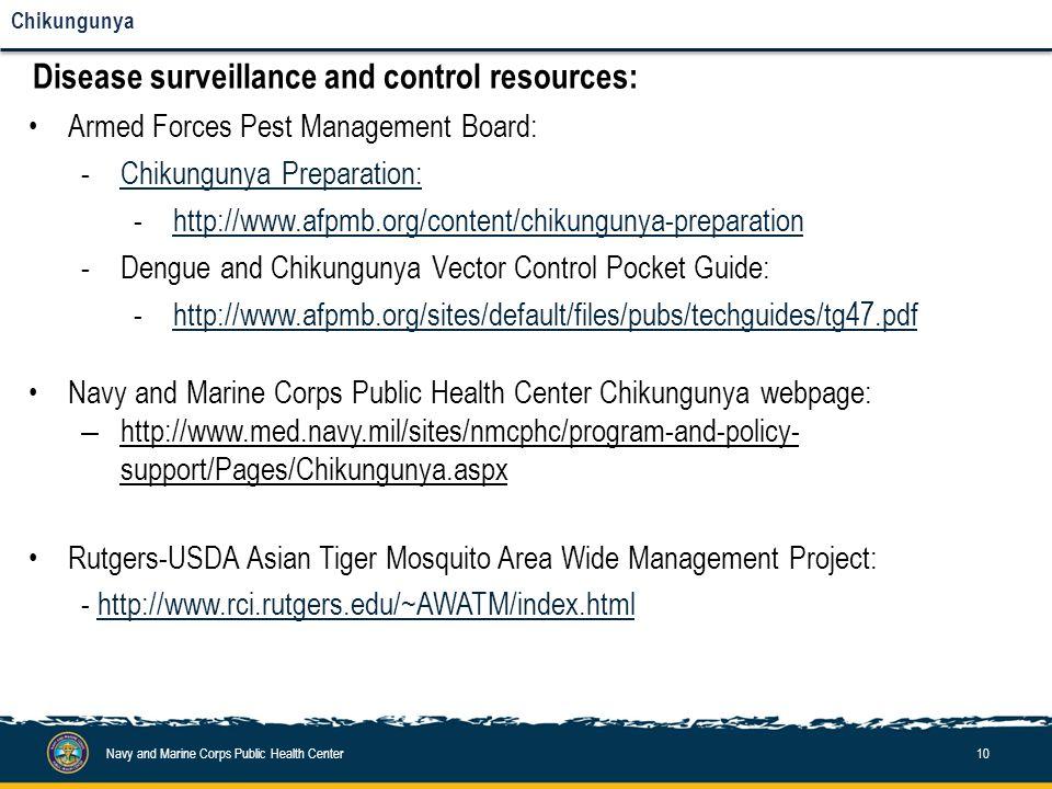 Disease surveillance and control: